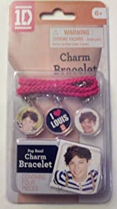 One Direction 1D Charm Bracelet pink string Louis from Global