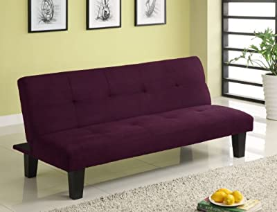 Youth futon sofa bed purple microfiber patsyger for Sofa bed 54 wide