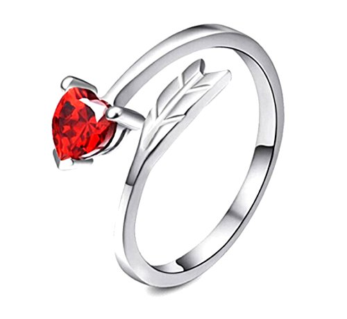 cupids arrow ring for her resizable gift for girlfriend anniversary valentines day