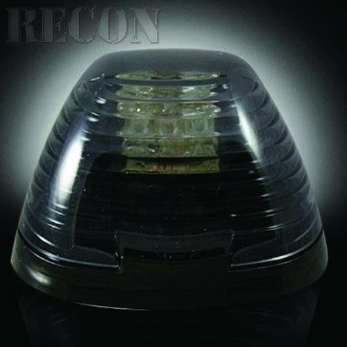 Recon 264143Bk Smoked Led Cab Roof Lights 1999-2010 Ford Superduty F250-F350 (5-Piece Set)