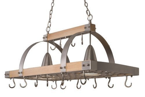 HD Ceiling Pot Rack w/ lights