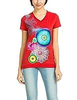 Desigual - T-shirt - Empire - Imprimé - Manches courtes - Femme