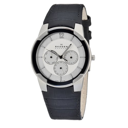 Skagen Mens Watch 856XLSLC With Leather Strap