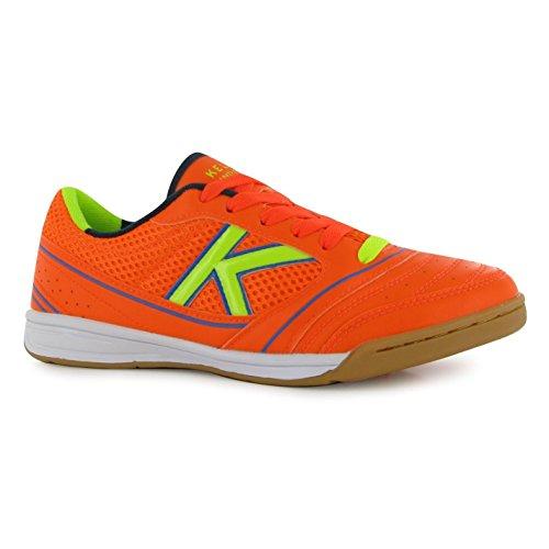 Kelme America Indoor Scarpe da calcio FUTSAL Soccer Fluo Arancione/sneakers, Orange, (UK6) (EU40) (US7)