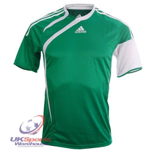 adidas Tiro Climacool 365 Maniche Corte T-Shirt Calcio Jersey Verde/Bianco - 2XS - bambini 72-77cm