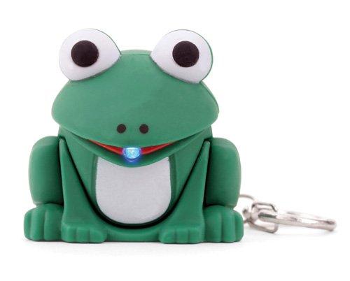 Kikkerland KRL12TC Frog LED Keychain with Sound