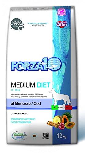 Forza 10 Medium Diet 12 kg Merluzzo crocchette cane
