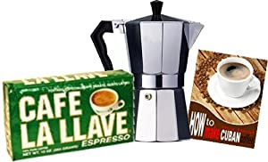 La Llave Cuban Coffee 10 oz and Coffee Maker Combo. by La Llave