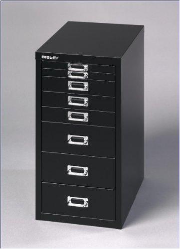 BISLEY-Schubladenschrank-Basic-A4-8-Schbe-schwarz