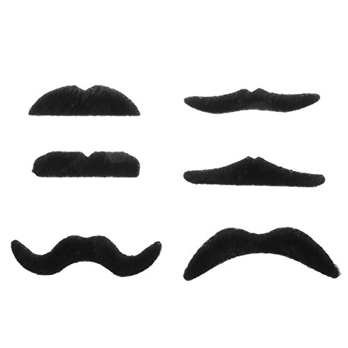 HITREE 2*12 Pcs Novelty Funny Halloween Cosplay Costume Party Fake Mustaches