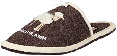 Adelheid Unschuldslamm Filzpantoffel 11230903253, Damen Pantoffeln, Braun (rindenbraun 307), EU 36/37