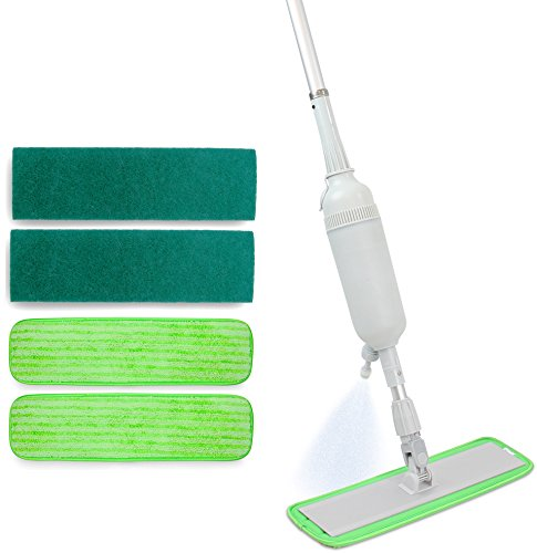 professional-microfiber-spray-mop-system-includes-4-reusable-pads-aluminum-handle-w-hand-operated-li