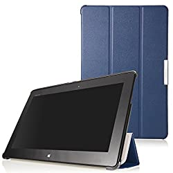 MoKo Ultra Slim Lightweight Smart-shell Stand Case for ASUS VivoTab Smart ME400 ME400C 10.1 inch Windows 8 tablet INDIGO (with Auto Wake/Sleep Function)