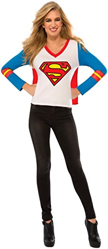 Rubie's Costume Co Women's DC Superheroes Supergirl Sporty Tee