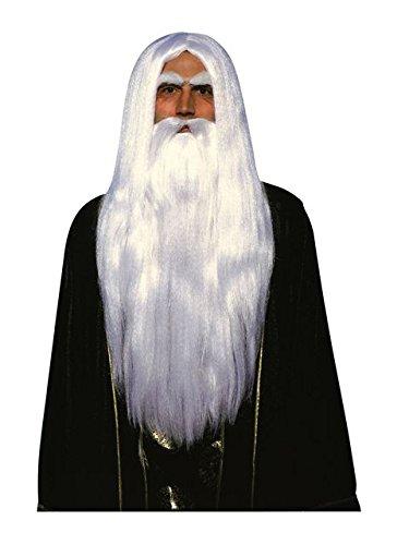 Adult Merlin Wizard Wig and Beard Set (Merlin Wig And Beard Set)