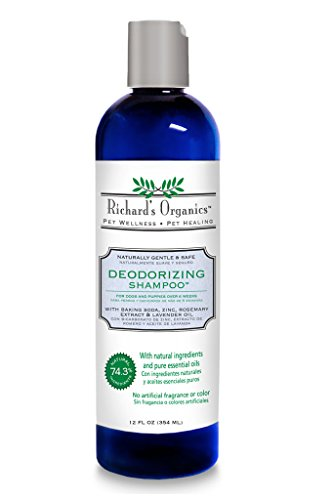 SynergyLabs Richard's Organics Deodorizing Shampoo with Baking Soda, Zinc, Rosemary Extract and Lavender Oil; 12 fl. oz. (Baking Soda Dog Shampoo compare prices)
