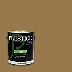 prestige exterior paint and primer in one 1 gallon satin. Black Bedroom Furniture Sets. Home Design Ideas