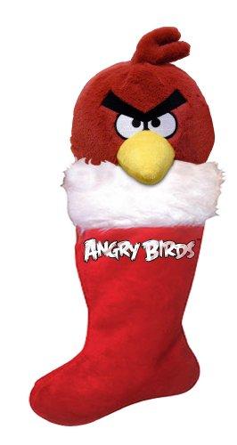 Angry Birds Christmas Plush Stocking, Red Bird - 1