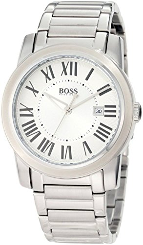 Hugo Boss  0 - Reloj de cuarzo para hombre, con correa de acero inoxidable, color plateado