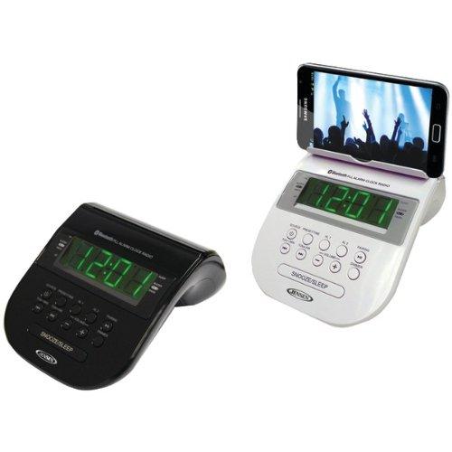 Jensen Jcr-295 Bluetooth(R) Clock Radio With Cellphone Holder