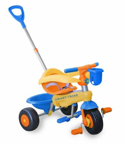 Smart Baby Toys 1231300 - Dreirad mit Schiebestange, Sicherheitssitz 3 in 1