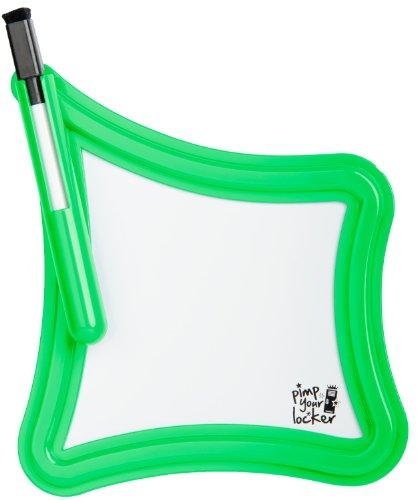 Magnetisches Whiteboard mit integriertem Stift/Radierer für Kühlschrank, Schließfach, Spind in grün (froggy green)