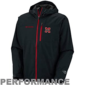 NCAA Columbia Nebraska Cornhuskers Hail Tech Performance Full Zip Jacket - Black by Columbia
