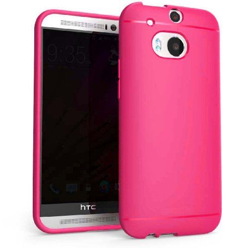 Chivel (Tm) Premium Slim Fit Soft Tpu Protector Case For New Htc One Smartphone (M8, Hot Pink)