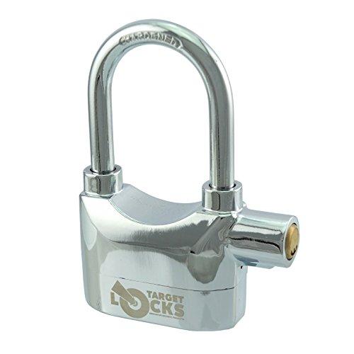 Target Locks TL023 - Lucchetto con arco lungo, elevata sicurezza, con allarme sirena