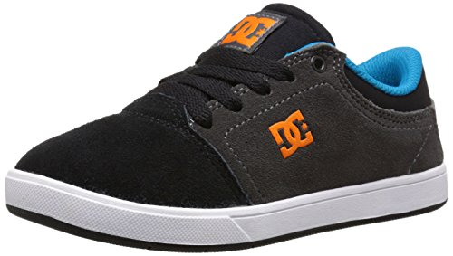 DC Crisis Youth Shoes Skate Shoe (Toddler/Little Kid/Big Kid), Black/Dark Grey, 13 M US Little Kid