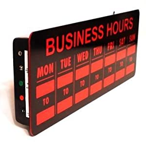 Hours sign with remote business and store signs office products