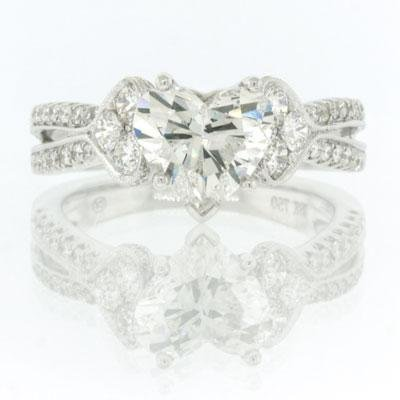 2.57ct Heart Shape Diamond Engagement Anniversary
