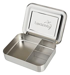Amazon Com Lunchbots Bento Trio Large All Stainless 3