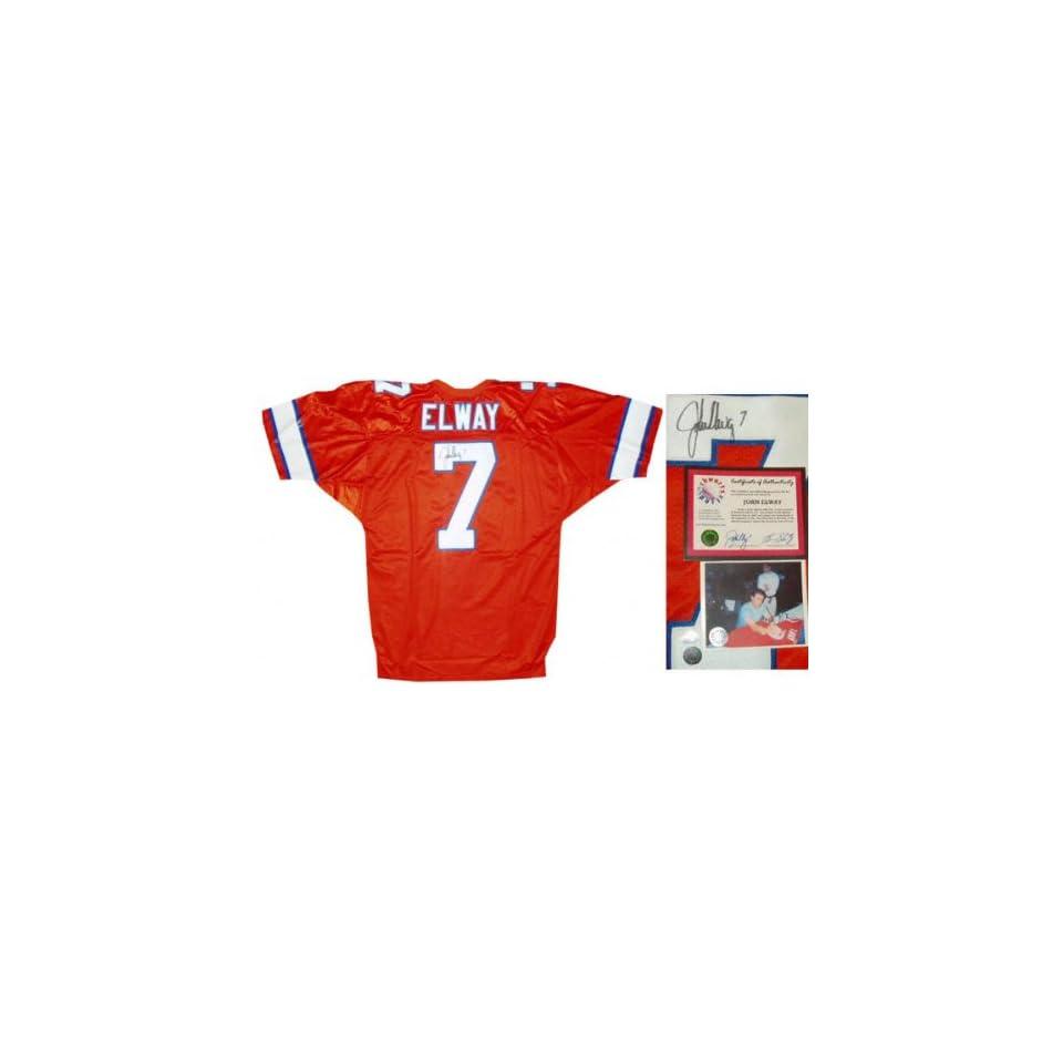 premium selection b516f ef7d3 John Elway Denver Broncos Autographed Wilson Authentic ...