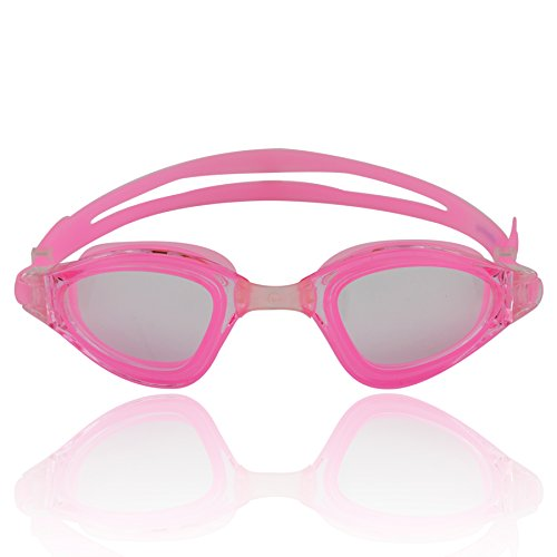 #DoYourSwimming Occhialini da nuoto »Shark« / Goggle, Top-Quality, 100% UV protection, Anti-fog. Ideal for competition, training, water sports, leisure and triathlon. Come in a solid hard case. Nr.: AF-1800, pink