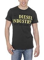 Diesel Camiseta Manga Corta T-Nola (Verde Oscuro)