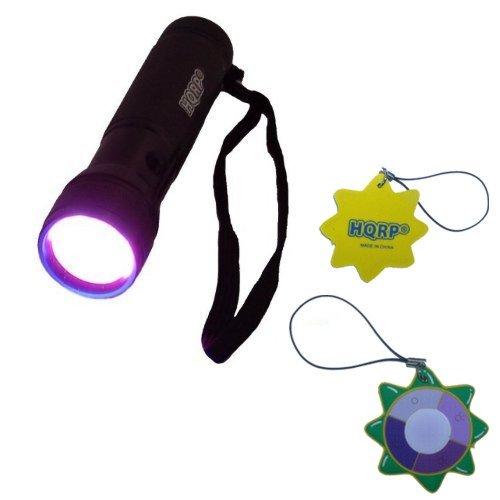 Hqrp 365 Nm 12 Led Uv Flashlight / Blacklight For Criminal Scene Investigation And Forensic Examinations Plus Hqrp Uv Meter