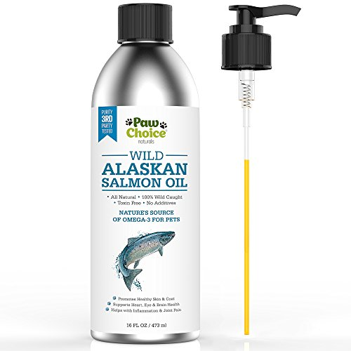 Wild Alaskan Salmon Oil for Dogs and Cats - Best Omega 3 Fish Oil for Healthy Coat, Joints & Heart - Wild Caught, No Additives, Toxin Free, Human Grade, Made in USA, 16oz Aluminum Bottle with Pump (Nordic Omega Dogs compare prices)