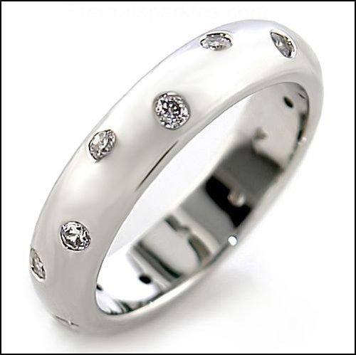 Jewelry - Clear CZ Eternity Ring SZ 10