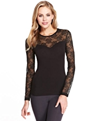 Heatgen™ Floral Lace Thermal Top
