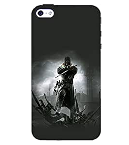 PrintDhaba EVIL D-6952 Back Case Cover for APPLE IPHONE 5 (Multi-Coloured)
