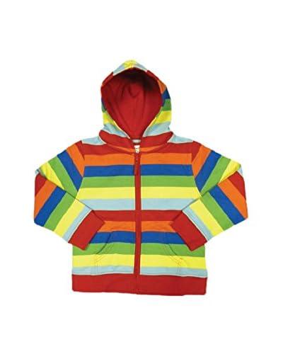 Toby Tiger Hoodie Organic Cotton Multi Stripe Hoodie mehrfarbig