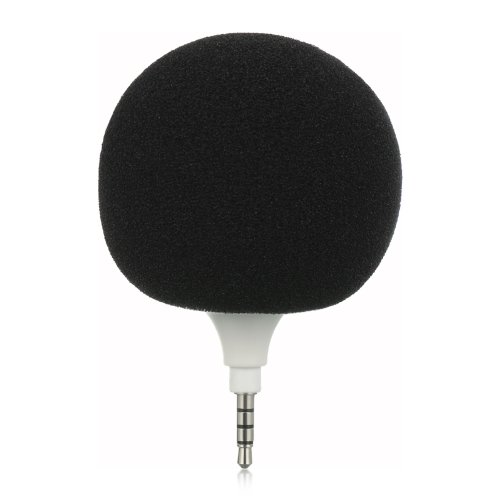 Importer520 Rechargable Mini 3.5Mm Audio Speaker Mini Ball With Microphone For Ipod/Mp3/Zune/ - Black Sponge Cover + Blue Sponge Cover