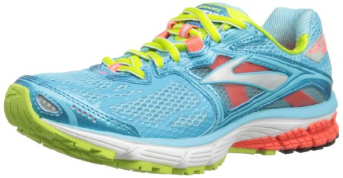 Brooks Womens Ravenna 5 W Running Shoes 1201491B834 Bluefish/Fiery Coral/Green Glow 3 UK, 35.5 EU, 5 US Regular