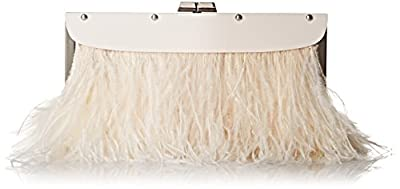 BCBG Portia Feather Trim Lucite Clutch