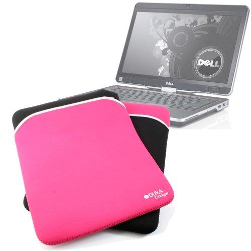 com Protective Black & Pink Reversible Neoprene Laptop Case For Dell