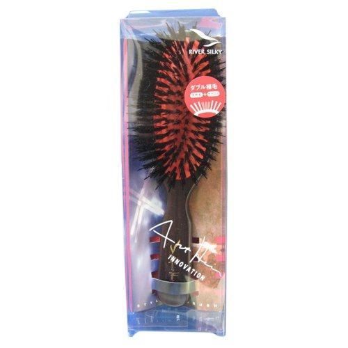 やさしい刺激で 静電気を抑え髪を傷めにくい 高級木製ミックスクッションブラシ