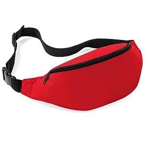 Outdoortips HOT Bum Bag Waterproof Monney Pouch Belt- Fanny Pack Purse Hip Wallet (Red)