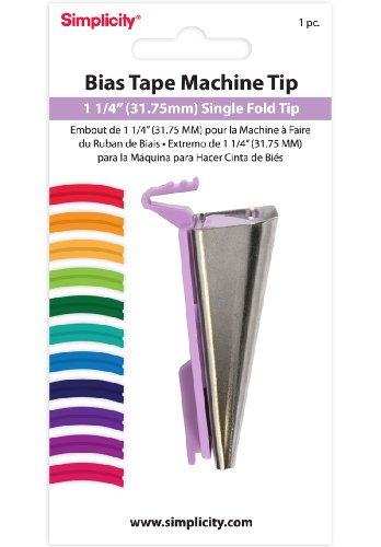 Review Of Simplicity 1-1/4-Inch Single Fold Bias Tape Machine Tip