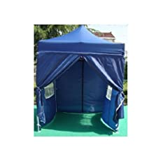 NEW WATERPROOF 2.5M X 2.5M POP UP TENT GAZEBO MARQUEE PARTY TENT CANOPY+4 SIDES (DARK BLUE)